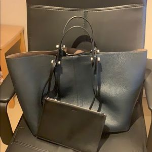 All Saints leather tote